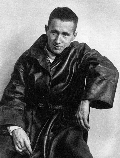 Bertolt Brecht Reclining With Cigar