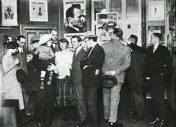 International Dada Fair 1920 Raoul Hausmann, Hannah Hoch, Otto Burchard, Johannes Baader, Wieland and Margarete Herzfelde, Otto Schmalhausen, George Grosz, John Heartfield