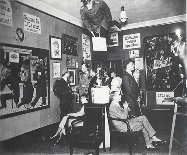 John Heartfield's Prussian Archangel at Dada Fair, 1920