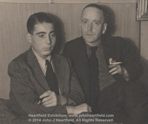 Tom And John Heartfield, Prague, 1937
