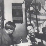 Oskar Kokoschka with Heartfield in Paris, 1935