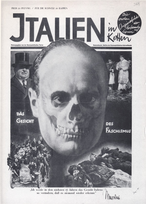 john heartfield political collage Face Of Fascism