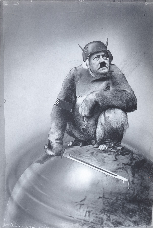 heartfield montage adolf hitler as ape