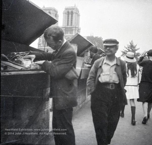 Rare John Heartfield photo in Paris, 1935