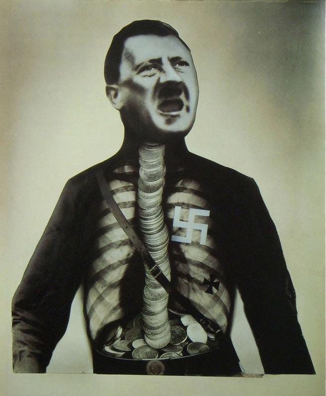 John Heartfield's famous xray of Adolf Hitler
