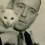 John Heartfield with Pipe and Cat