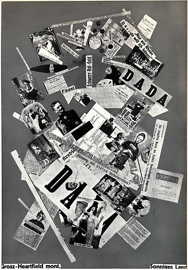 Grosz Heartfield Collage, Sonniges Land, 1919