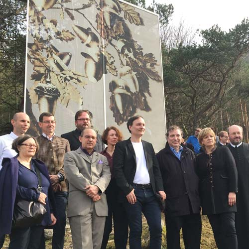 The Unveiling Of The Memorial At The Friedenskreuz (Peace Cross) St. Lorenz
