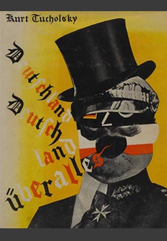 Kurt Tucholsky Book Jacket by German Dada Political Artist Heartfield