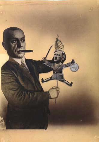 Famous German Political Image of Adolf Hitler as a puppet of Thyssen