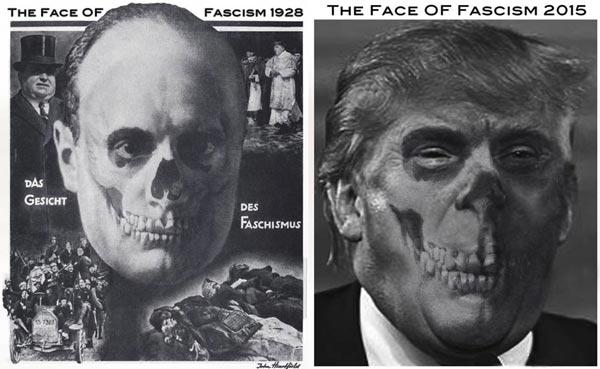 <em>The Face Of Fascism, 2015</em><br />John J Heartfield
