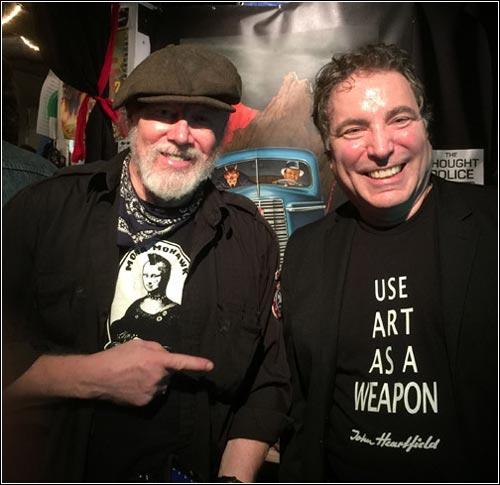 (L-R) Winston Smith & John J Heartfield, DADA WORLD FAIR, San Francisco Collage Museum, N