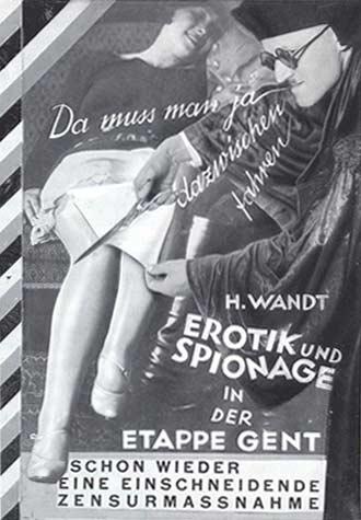 German Erotic Espionage Heartfield Book Cover