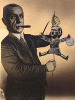 famous political art heartfield portrait politician puppet hitler