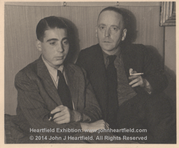 John Heartfield and son Prague 1938