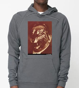 famous German political art hoodie for sale, heartfield photomontage tiger face spd party crisis