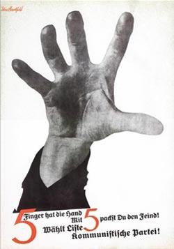 john heartfield image five fingers 5 finger