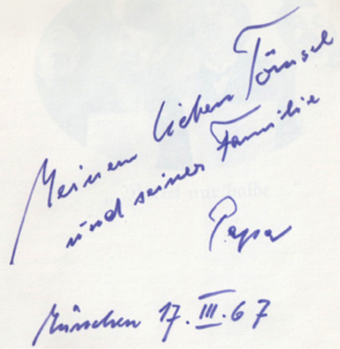about John Heartfield family Book Inscription 1967