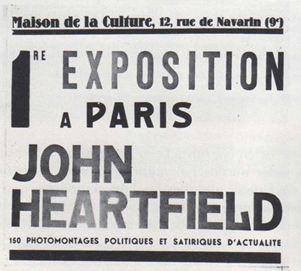 war two art 1935 Heartfield Exhibition