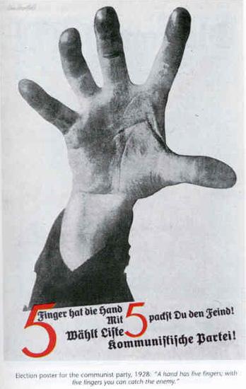 Heartfield Five Fingers Montage
