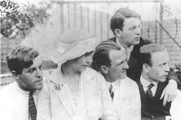Wieland Herzfelde, Eva Grosz, George Grosz, Rudolf Schlichter, John Heartfield, 1922