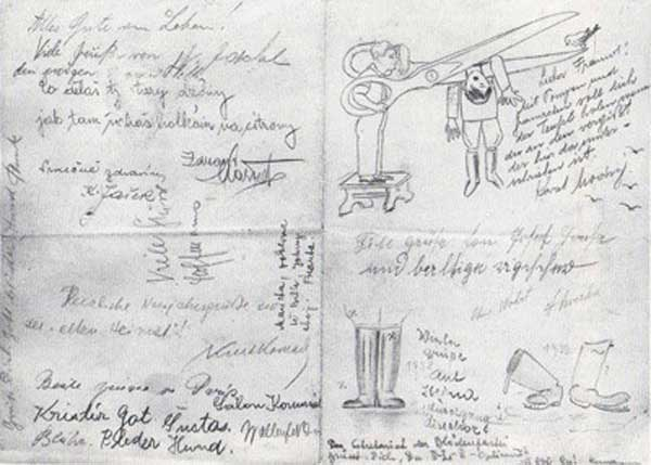 escape from nazis artist in Czechoslovakia Heartfield Letter, 1938