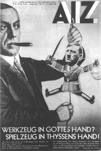 John Heartfield Anti-Nazi Photomontage