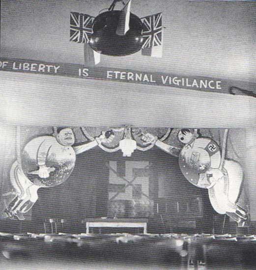 Wieland Herzfelde England with John Heartfield's 1939 Freedom Montage