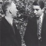 John Heartfield and son, Tom, Prague, 1938