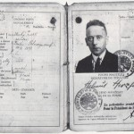 Heartfield's travel papers