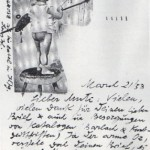 Postcard from Grosz to Heartfield, 1958