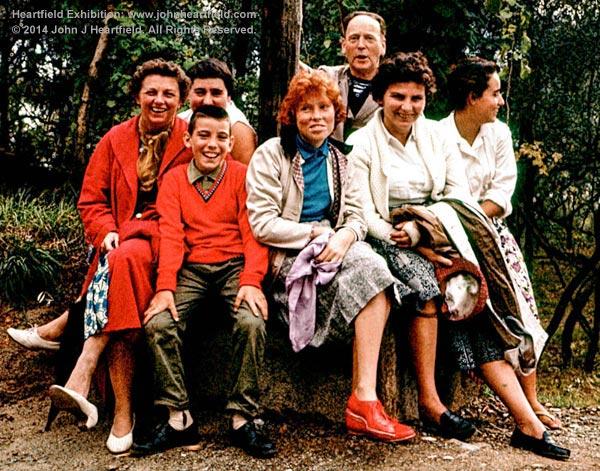 John Heartfield's Extended Family, Italy, 1950s