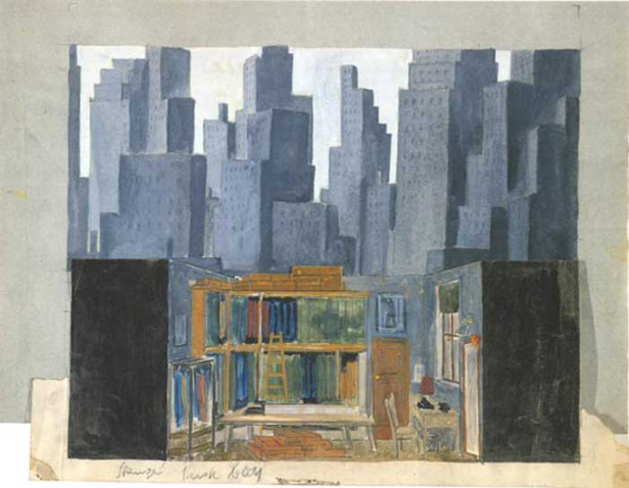 famous theatre stage sets mother riba david berg East Berlin Germany stage design East Germany 1955
