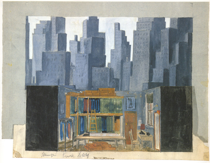"Stage Set Design for David Berg's ""Mother Riba"""