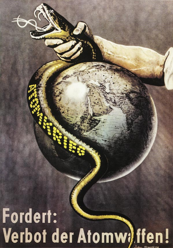 john heartfield political collage prohibit atomic weapons
