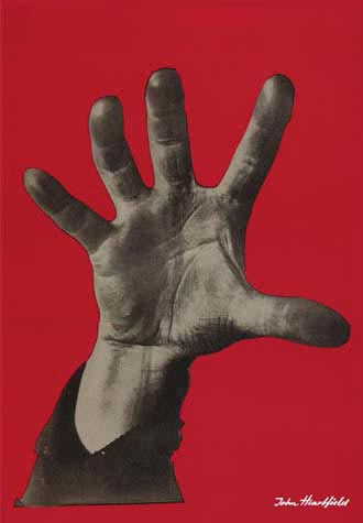 "John Heartfield ""5 Fingers hat die Hand"" is one of the most famous political symbols of all time"