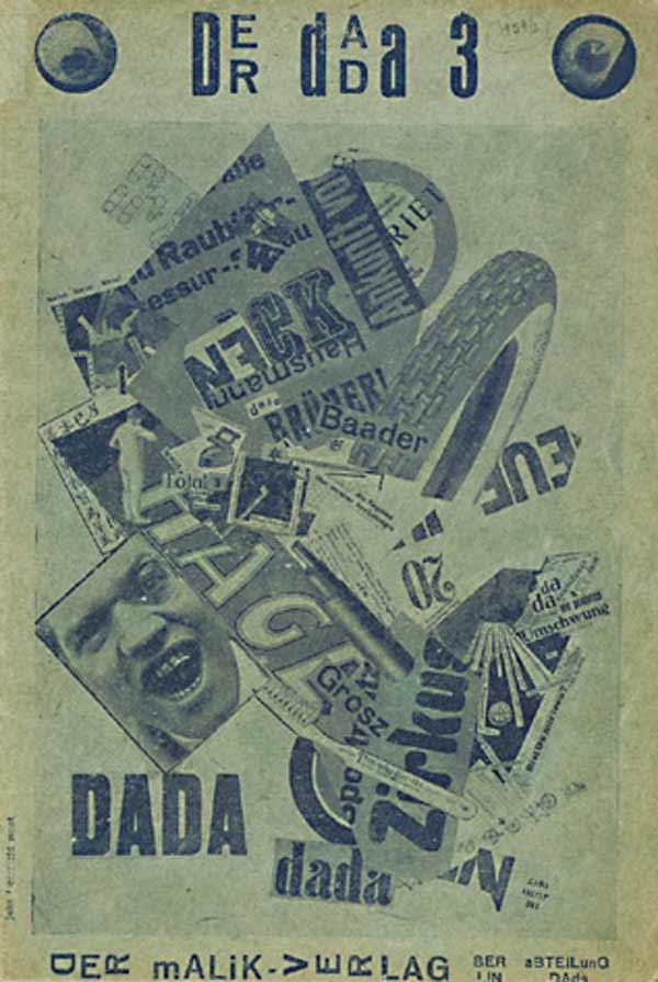 Der Dada 3, John Heartfield Montage, 1920