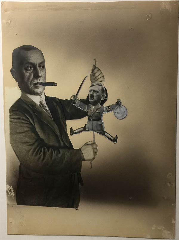 russian puppet trump putin john heartfield political collage prohibit thyssen hitler