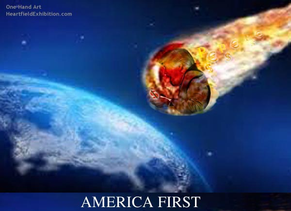 <em>America First!</em><br />One Hand Art<br />John J Heartfield