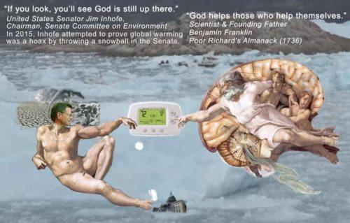<em>God Helps Those With Common Sense</em><br />One Hand Art<br />John J Heartfield