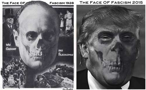 trump fascist face t-shirt heartfield shop contemporary artists