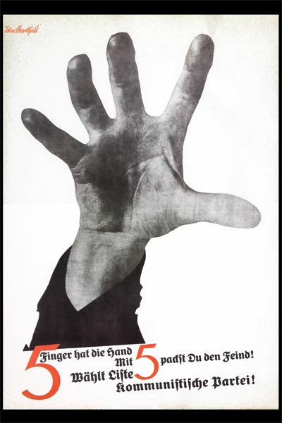 john heartfield poster photomontage art, his most famous political images