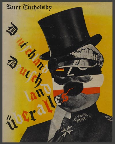 john heartfield famous political collage for Kurt Tucholsky