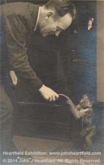 graphic design history antifascist activist artist john heartfield postcard 1939