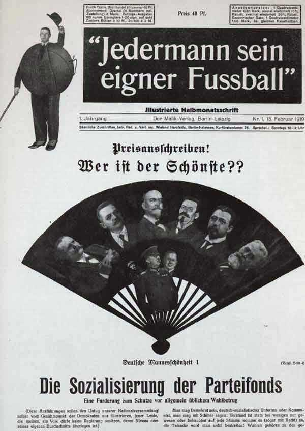 Dada Grosz,George and Heartfield, Jederman sein eigner Fussball, Every man his own football
