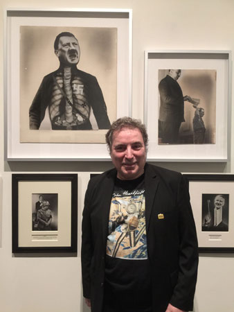 john heartfield's grandson with heartfield political art photomontages