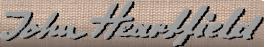 John Heartfield Signature