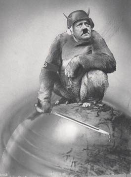 John Heartfield 1943 portrait of Adolf Hitler - And Yet It Moves!