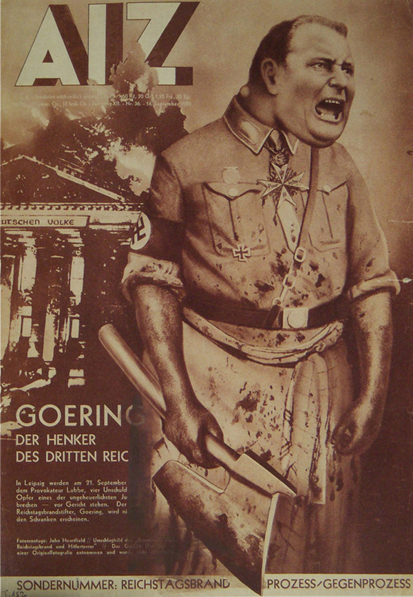 alternate facts propaganda art ww2 art john heartfield anti-fascist collage Goering: The Executioner of the Third Reich