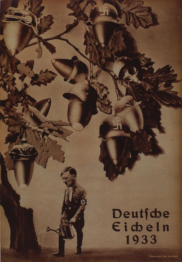 Political art against hitler heartfield AIZ cover Deutsche Eicheln, German Acorns